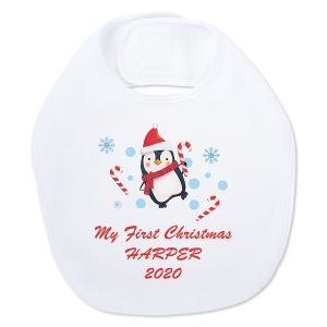 Baby's First Christmas Personalized Bib