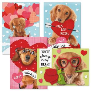 Dachshunds Valentine Cards