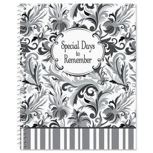 Black Elegance Greeting Card OrganizerBook