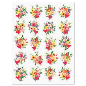 Painted Bouquet Stickers - BOGO
