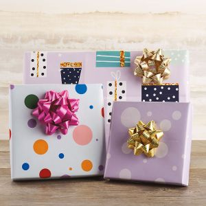 Spring Birthday Flat Gift Wrap Set