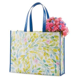 Pink Flowers Shopping Tote - BOGO