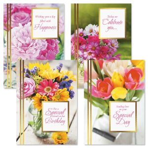 Sending Flowers Birthday Cards and Seals