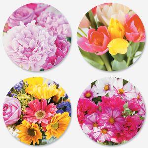 Sending Flowers Seals (4 Designs)