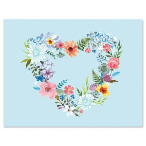 Daisy Wreath Note Cards - BOGO