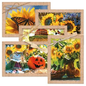 Autumn scenes card set