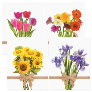 Summer Bouquets Note Cards