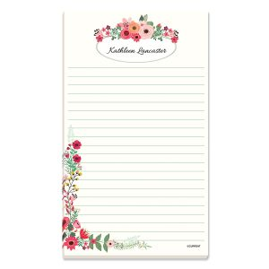 Tiny Bloom Lined Personalized Note Pad