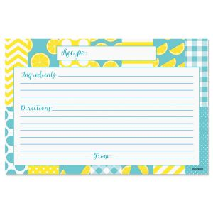 Lemonade Recipe Cards with Protective Sleeves