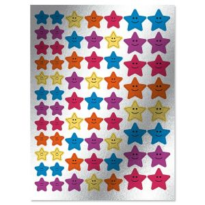 Smiling Motivational Star Foil Stickers