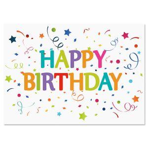 Confetti Wishes Birthday Cards