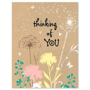 Kraft Thinking of You Note Cards - BOGO