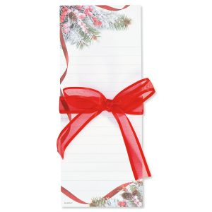 Snowy Pine List Pads with Ribbon - BOGO