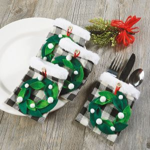 Wreath Flatware Holders - BOGO