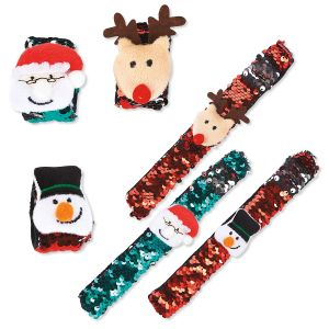 Holiday Slap Bracelets
