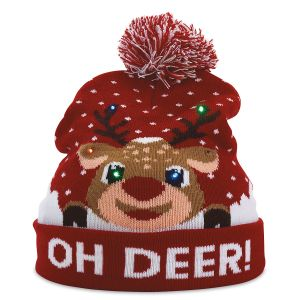 Oh Deer Light-Up Stocking Cap