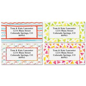 Summer Floral Address Labels - BOGO