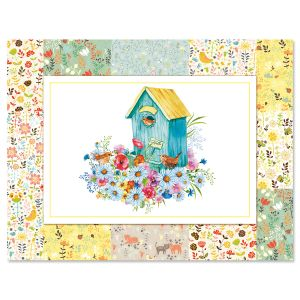 Floral Patchwork Note Cards - BOGO