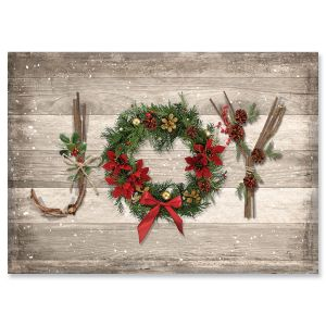 Rustic Joy Religious Christmas Cards