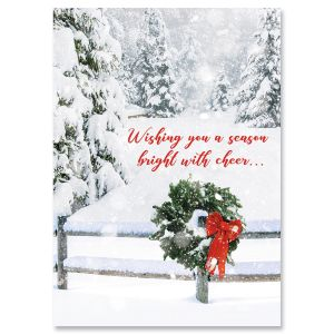 Fields of Snow Religious Christmas Cards