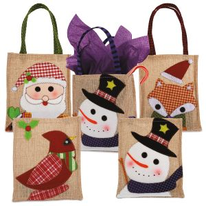 Burlap Holiday Treat Bags
