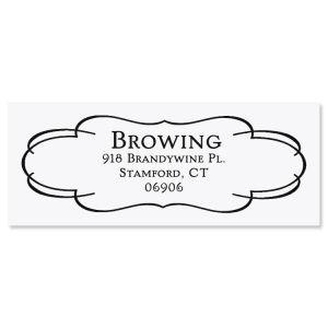Elegant Frame Self-Inking Address Stamp
