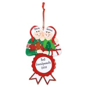 Ugly Sweater Couple Hand-Lettered Ornament
