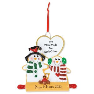 Cookie Love Gingerbread Hand-Lettered Christmas Ornament