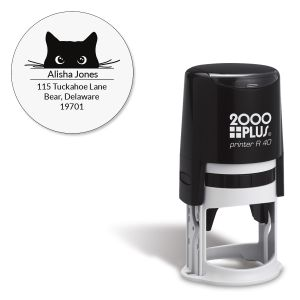 Cat Paws Round Self-Inking Address Stamp
