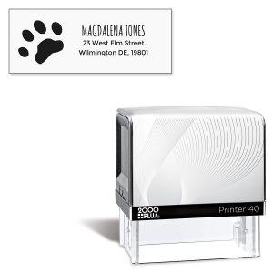 Paw Print Pre-Inking Address Stamp