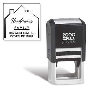 Home Square Self-Inking Address Stamp