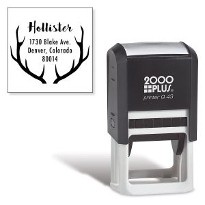 Antlers Square Self-Inking Address Stamp