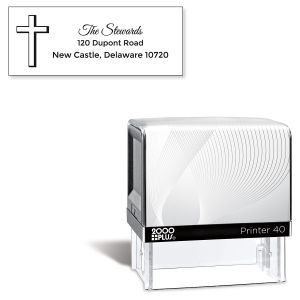 Simple Cross Pre-Inking Address Stamp