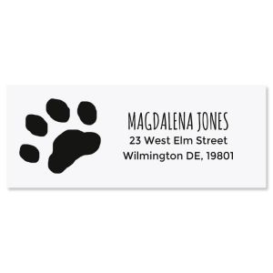 Paw Print Self-Inking Address Stamp