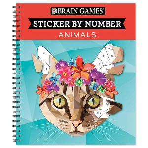 Sticker by Number Animal Book Brain Games®
