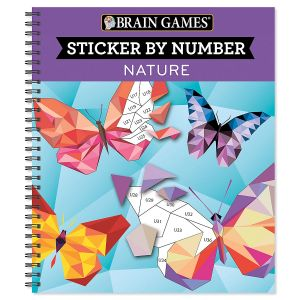 Sticker by Number Nature Book Brain Games®
