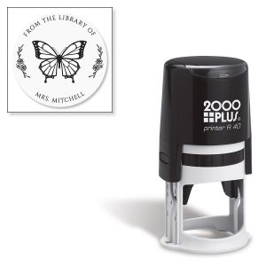 Butterfly Round Self-Inking Address Stamp