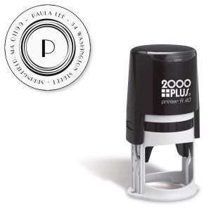 Circle Initial Self-Inking Address Stamp