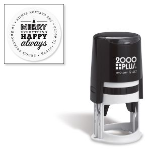 Merry Everything Round Address Stamp