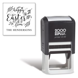 Happy Easter Square Self-Inking Address Stamp