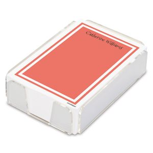 Color Trend Personalized Notes in a Tray (4 rotating colors)