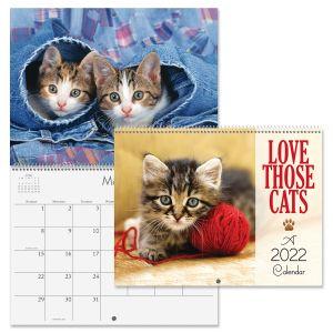 2022 Love Those Cats Wall Calendar