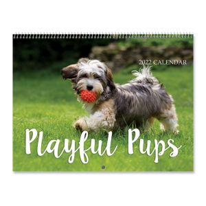 2022 Playful Pups Wall Calendar