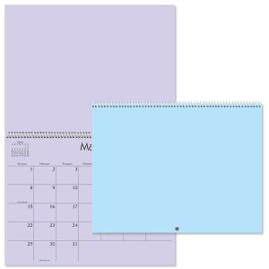 2022 Colored Pages Blank Crafters' Calendar
