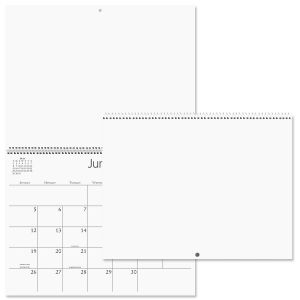 2022 White Pages Blank Crafters' Calendar