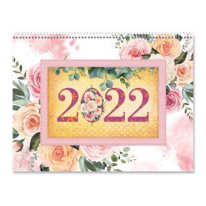 2022 Floral Scrapbooking Wall Calendar