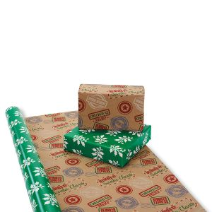 Mailing Stamps Double-Sided Jumbo Rolled Gift Wrap