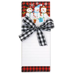 Snowman Notepads with Ribbon
