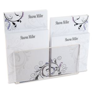 Black & Grey Fantasy Personalized Notepad Set