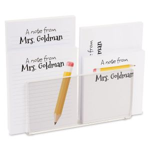 Yellow Pencil Personalized Notepad Set